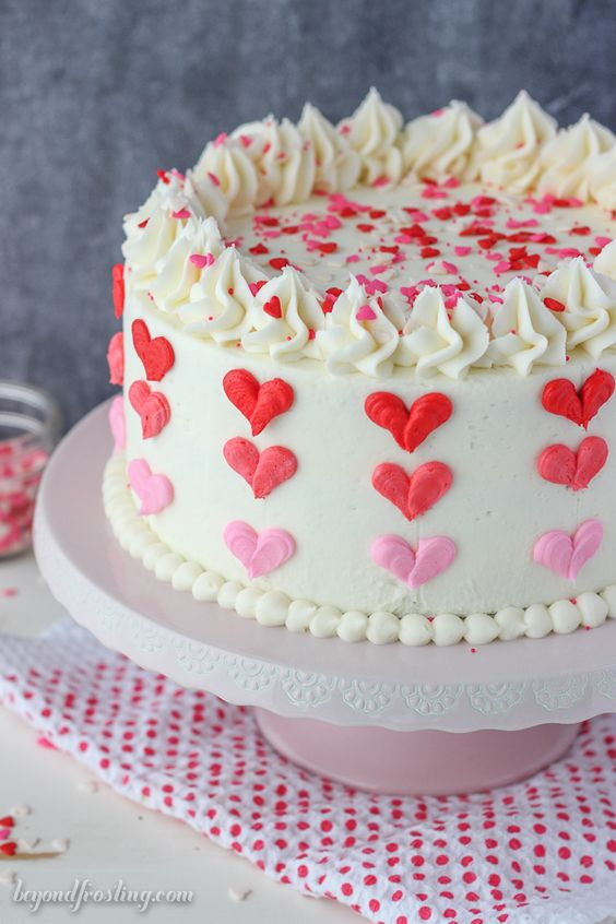 Valentine's Day Ombre Cake