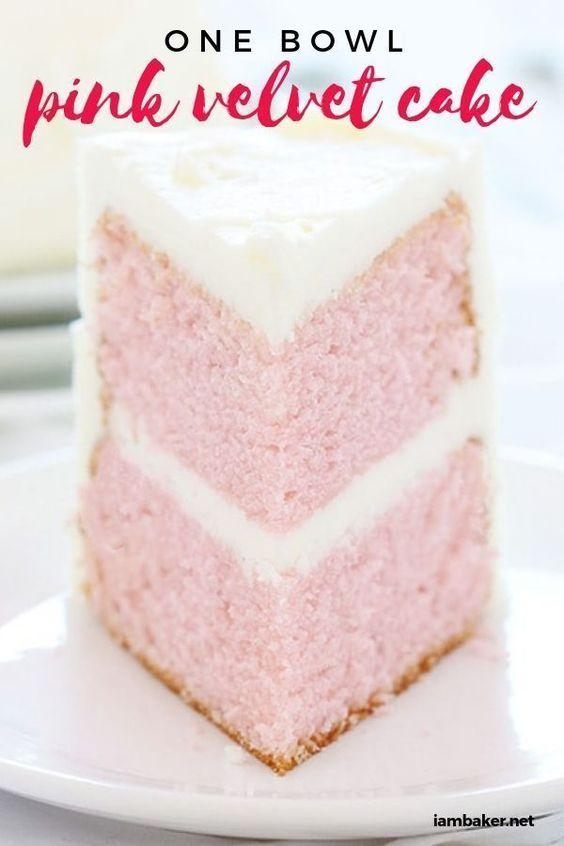One Bowl Pink Velvet Cake