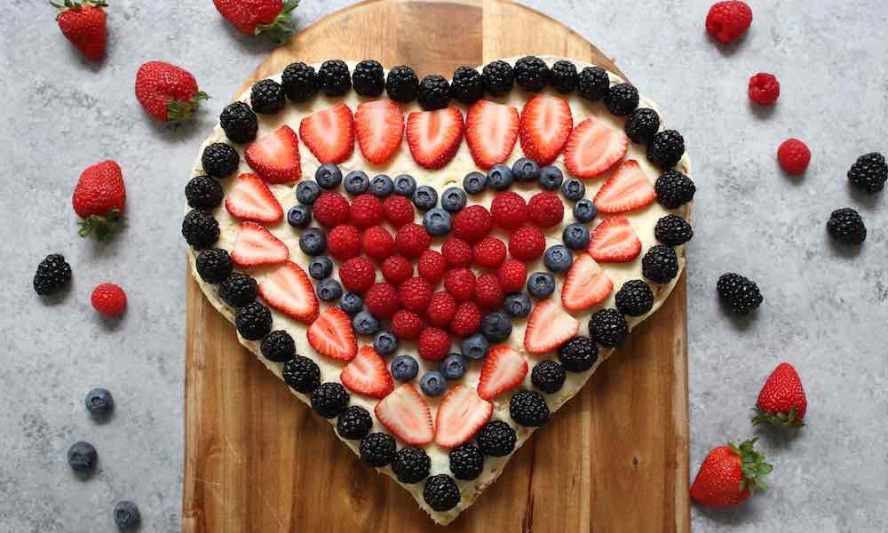 Heart Shaped Berry Cake