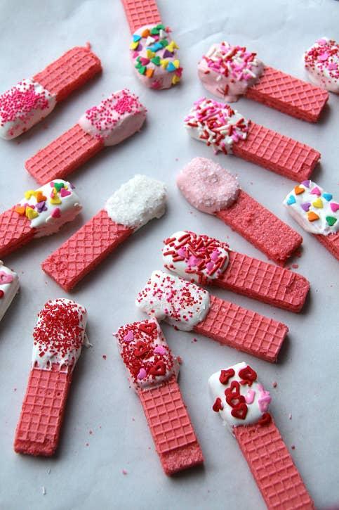 Easy Pink Wafer Valentine's Day Desserts
