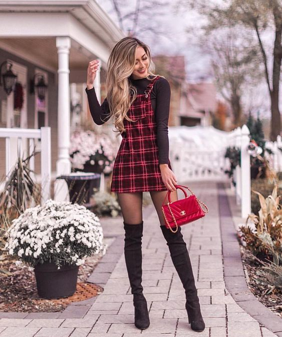 Cute fall outfits with over the knee boots