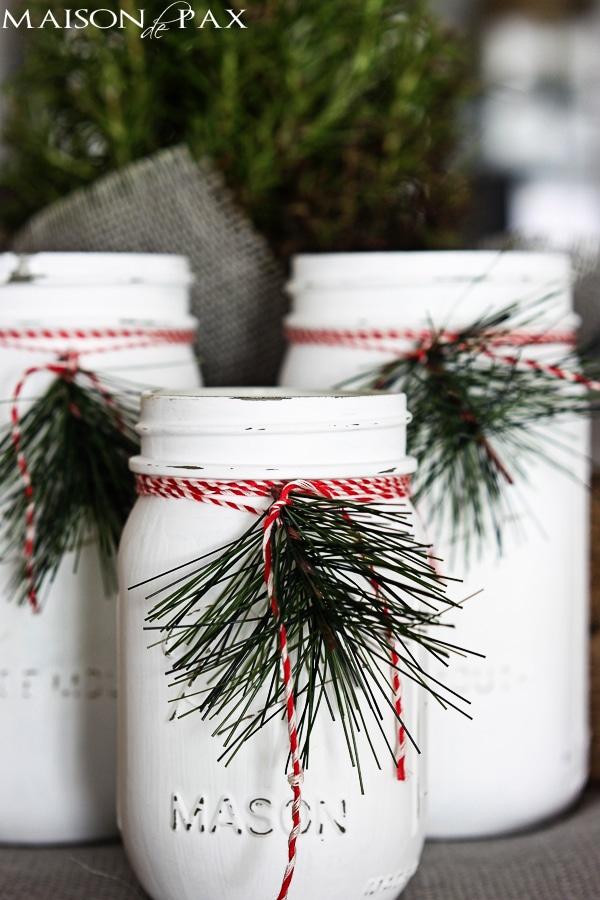Christmas Mason Jar Luminaries Craft
