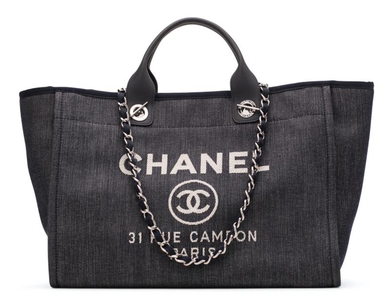 Designer laptop bags - Denim Chanel Deauville