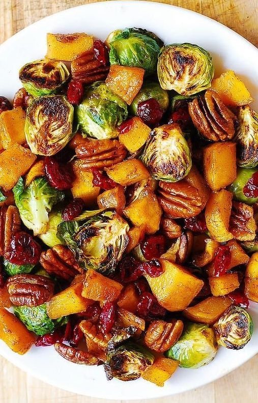 Best Thanksgiving recipes: Roasted Butternut Squash and Brussels Sprouts