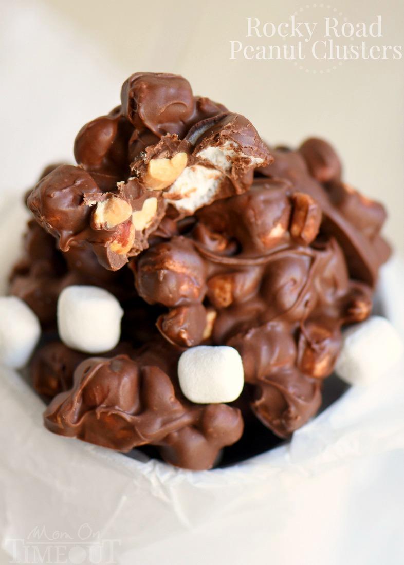 Rocky Road Peanut Clusters