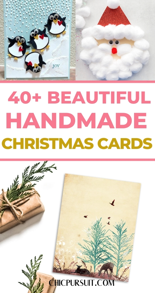 The most beautiful handmade Christmas cards to make and buy
