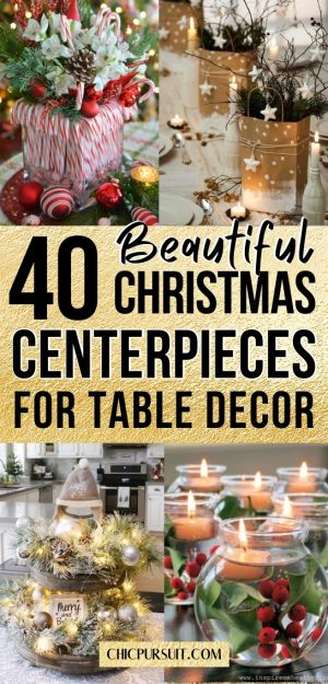 40 Best Elegant Christmas Centerpieces That You Need To See