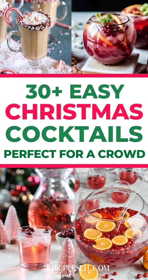 30+ Easy Christmas Cocktails & Drinks Perfect For A Crowd