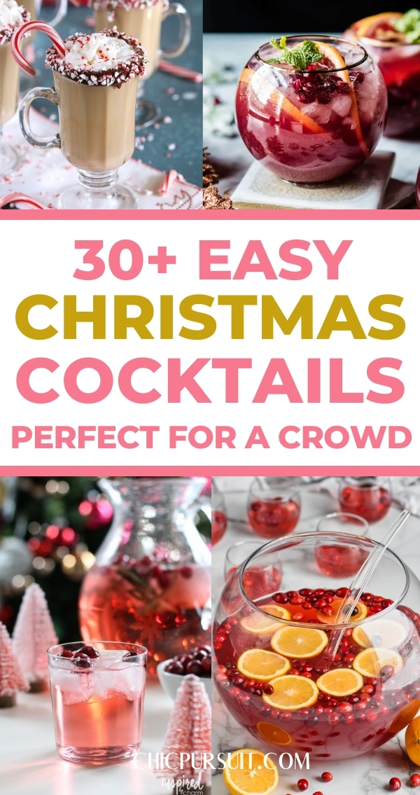Best easy Christmas cocktails, Christmas cocktail recipes and Christmas cocktail ideas