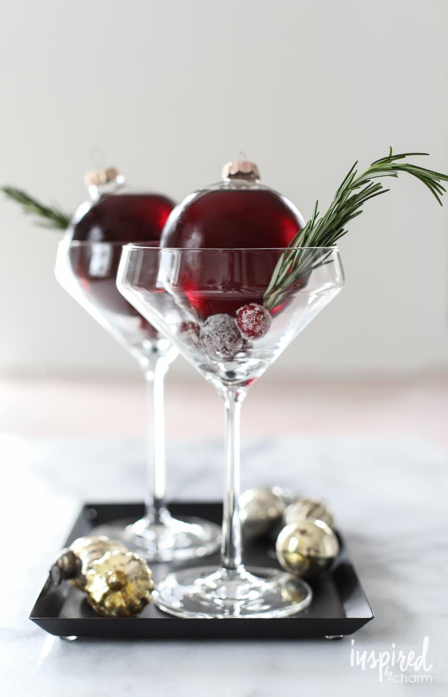Christmas cocktail ideas: Very Merry Ornamentini