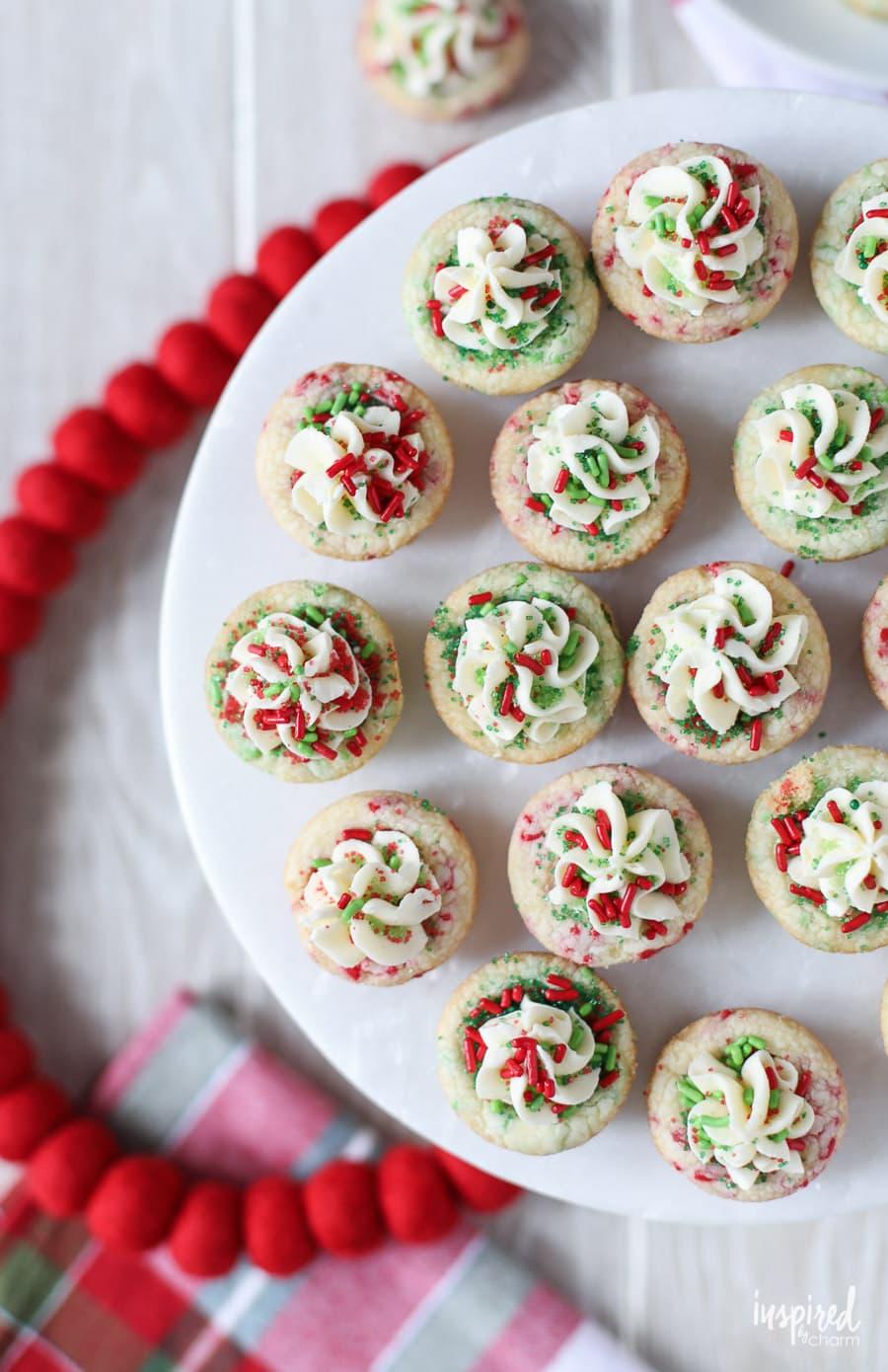 Christmas Sprinkle Cookie Cups