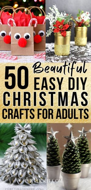 50 Easy DIY Christmas Crafts For Adults To Make And Sell