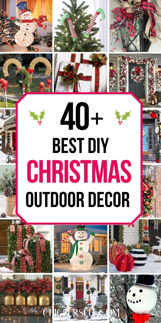 Best DIY Christmas outdoor decorations and outdoor Christmas decor ideas