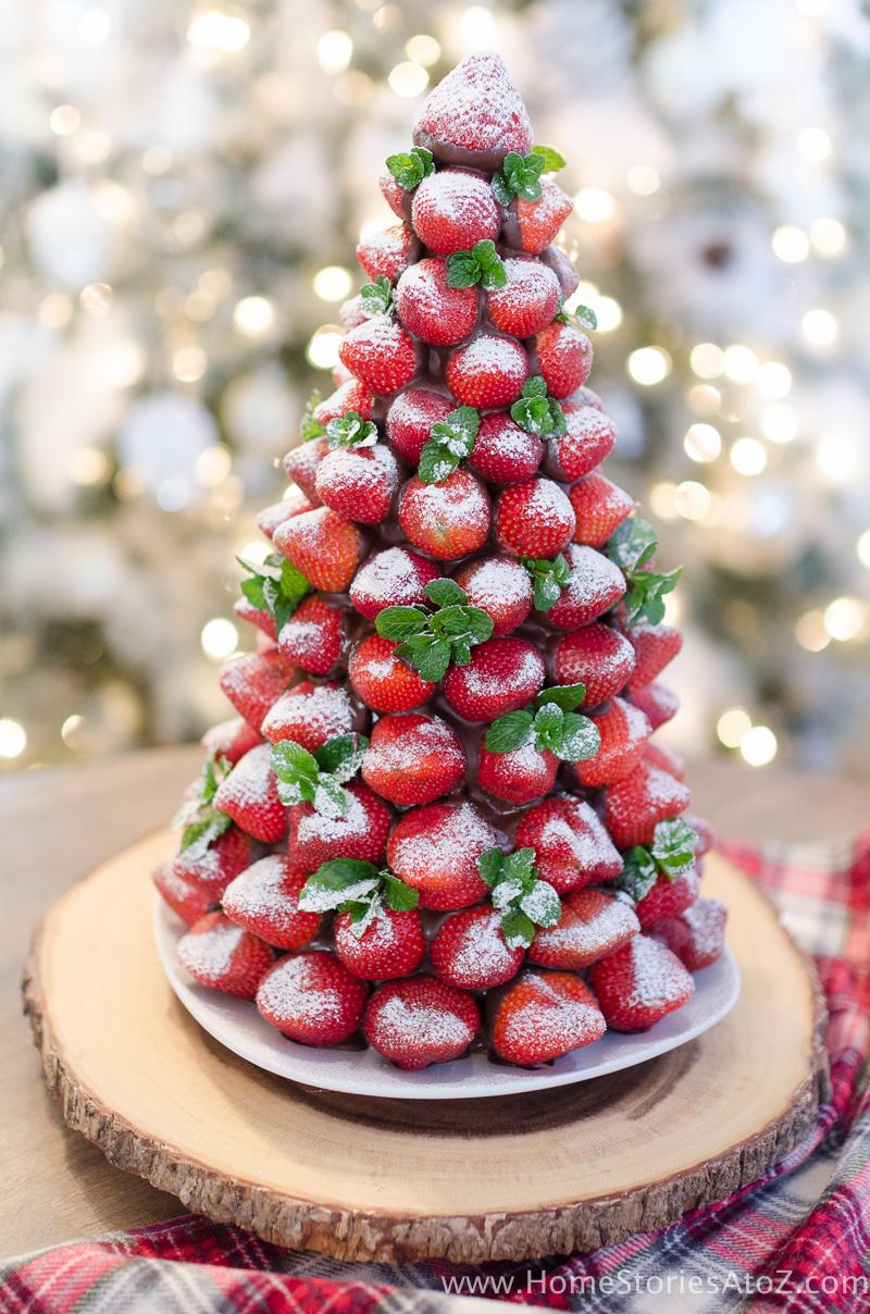 Chocolate Covered Strawberry Christmas Tree Idea