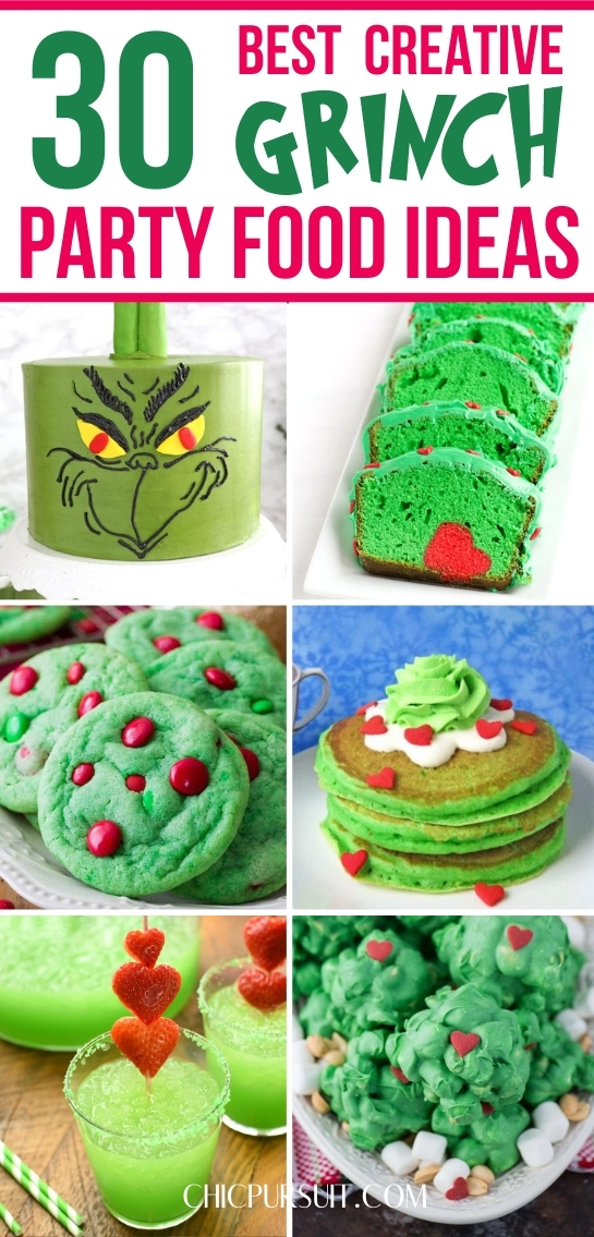 The best Grinch cakes, Grinch food ideas, Grinch party ideas, Grinch treats and more!