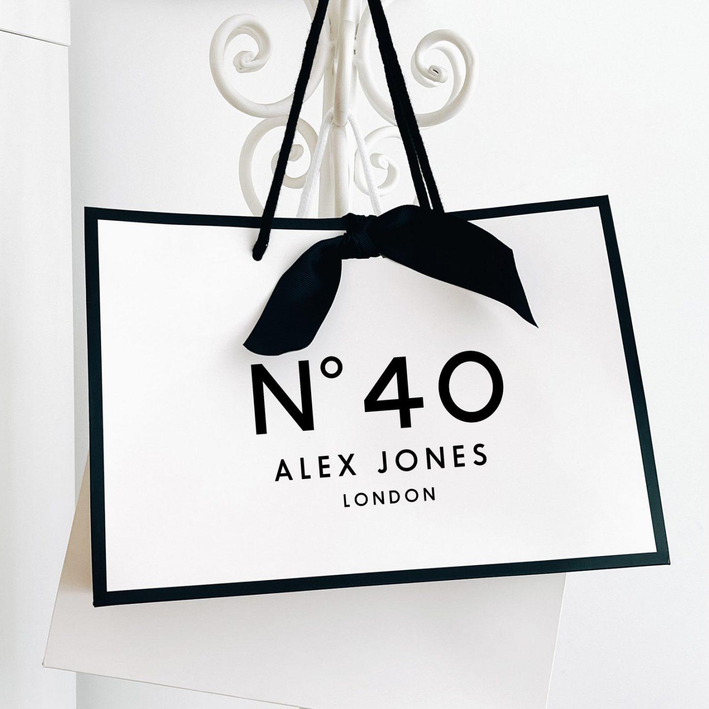 Designer inspired birthday gift bag