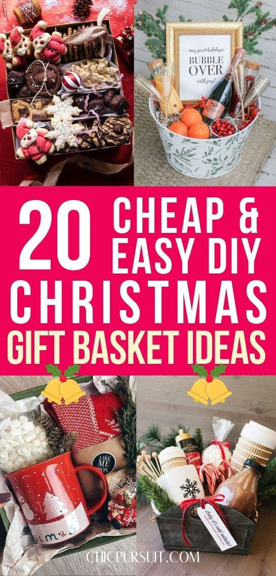 Best cheap and easy Christmas gift basket ideas for family, friends and women