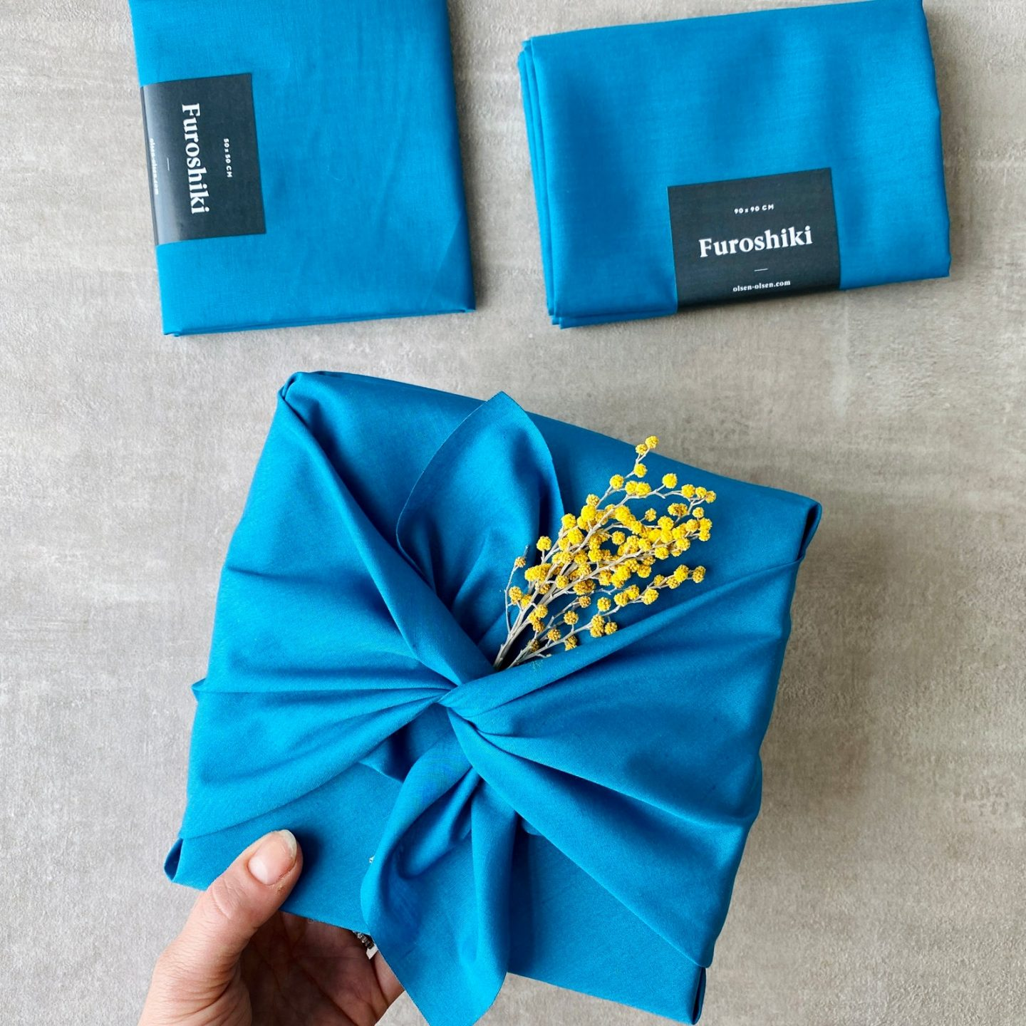 Blue Zero Waste Fabric Wrapping