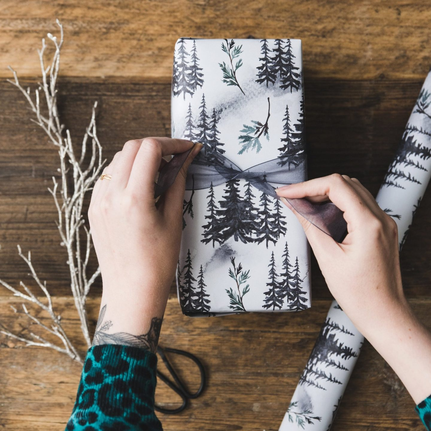Black & White Christmas gift Wrapping