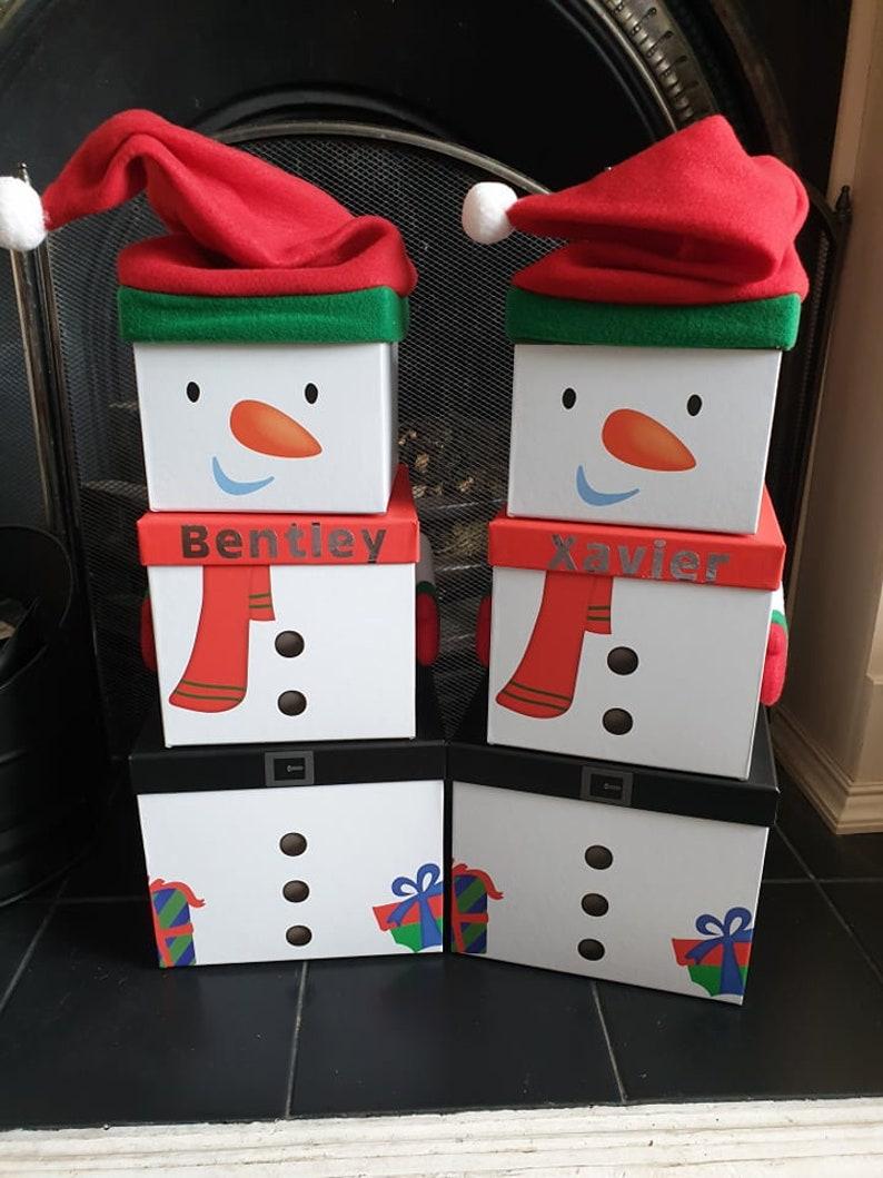 Snowman Christmas Gift Boxes
