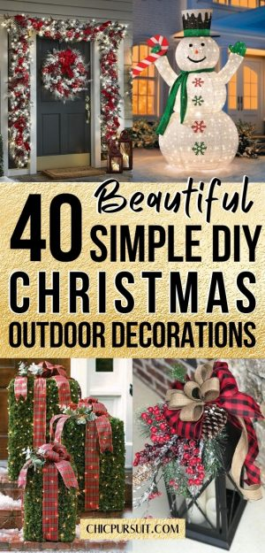 40+ Best DIY Christmas Decorations For Outdoors You'll Love