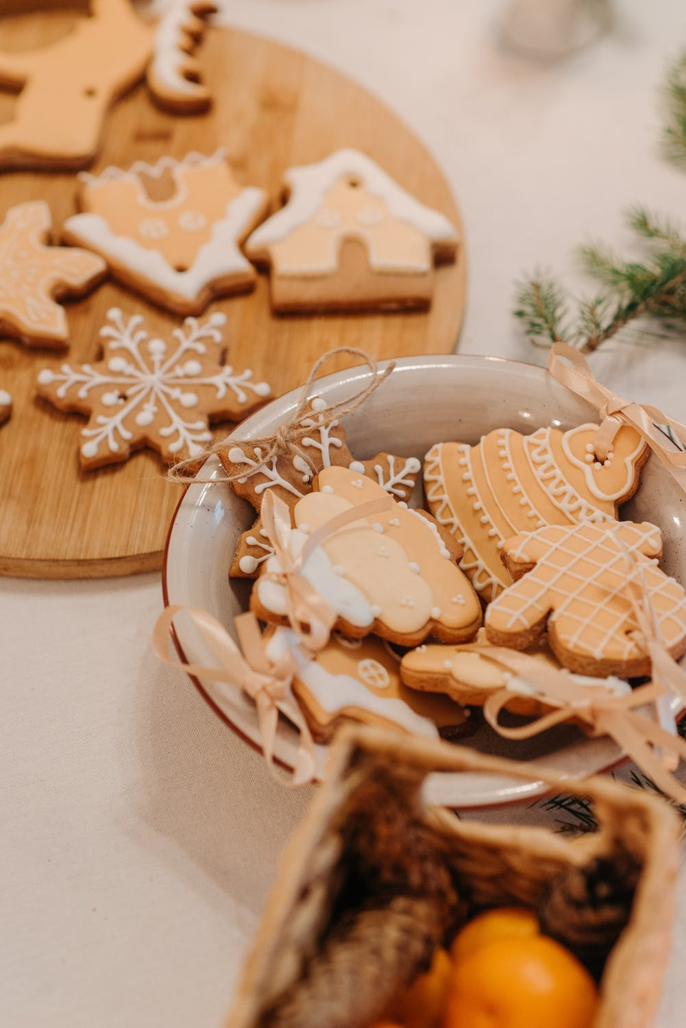 Christmas aesthetic wallpaper with cookies