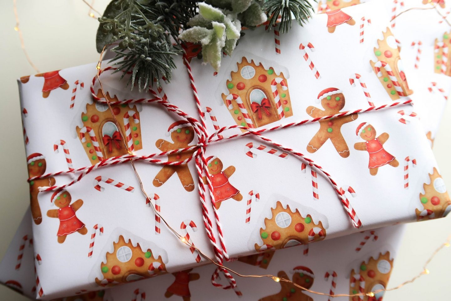 Gingerbread Man gift wrapping paper