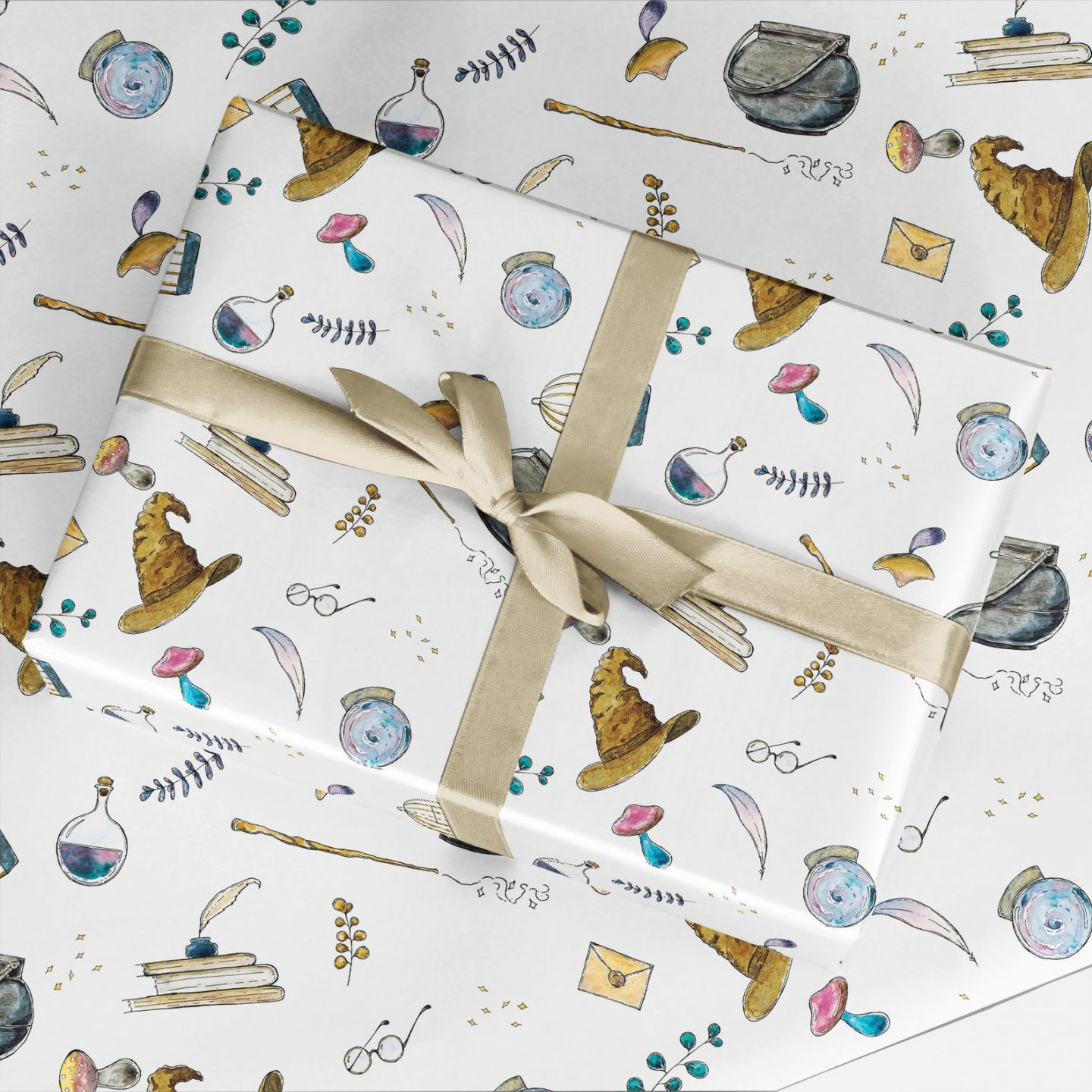 Harry Potter inspired gift wrapping paper