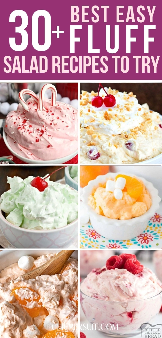 The best easy fluff recipes, fluff desserts and fluff salad recipes