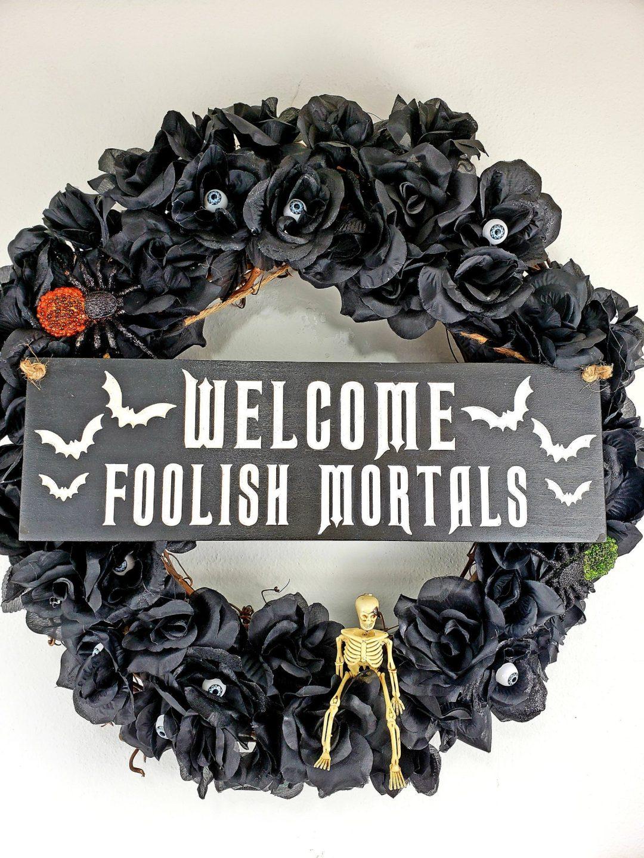 Elegant black Halloween wreaths