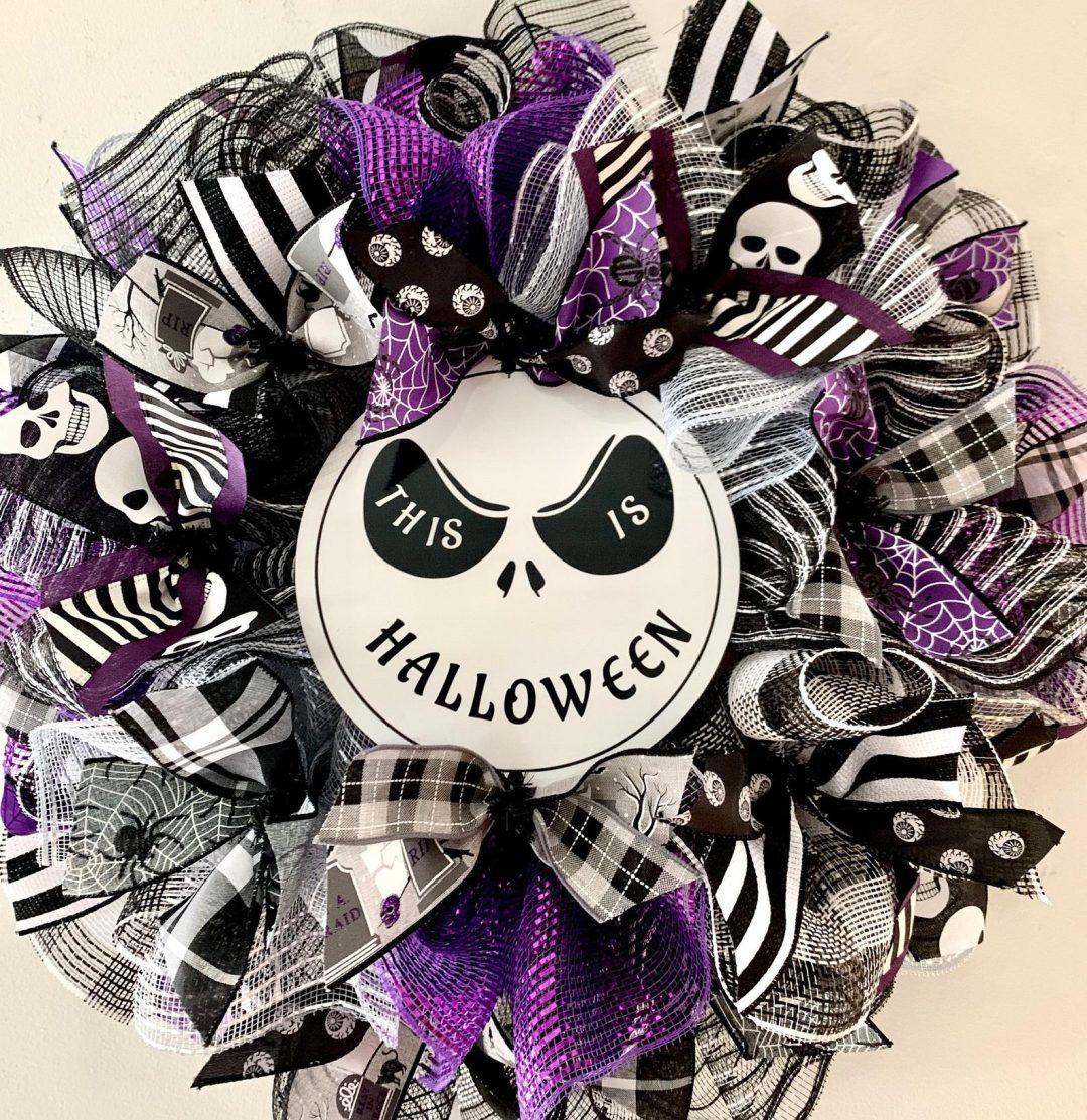 Jack Skellington Halloween wreaths