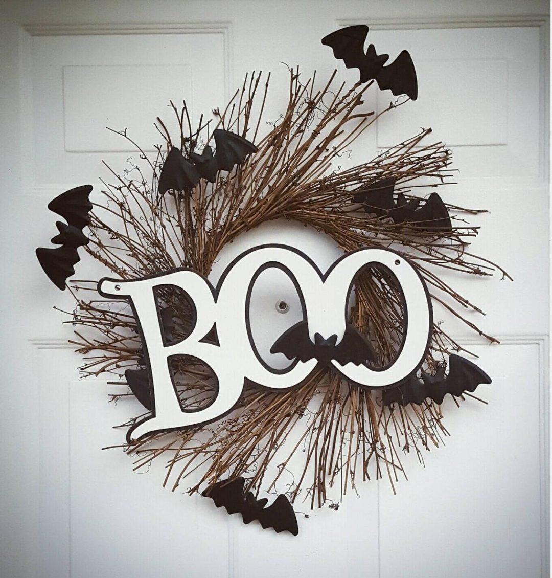 Boo bat wreaths