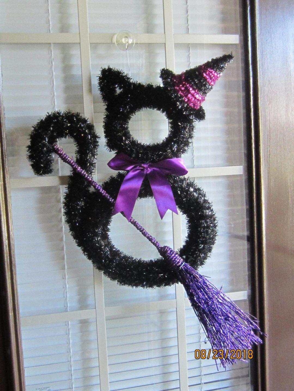 Black cat wreaths