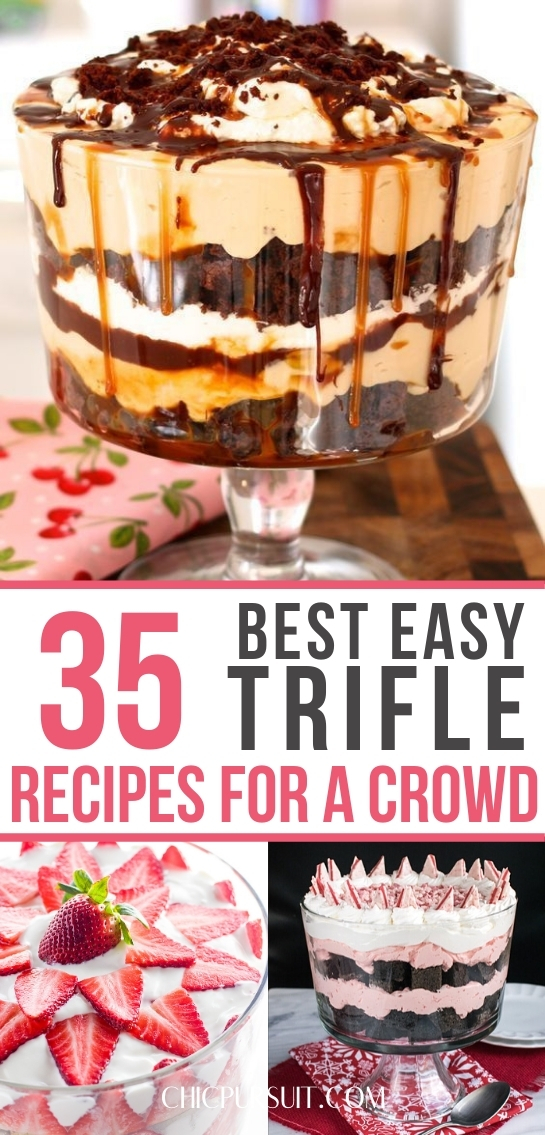 Easy trifle desserts and easy trifle recipes for a crowd