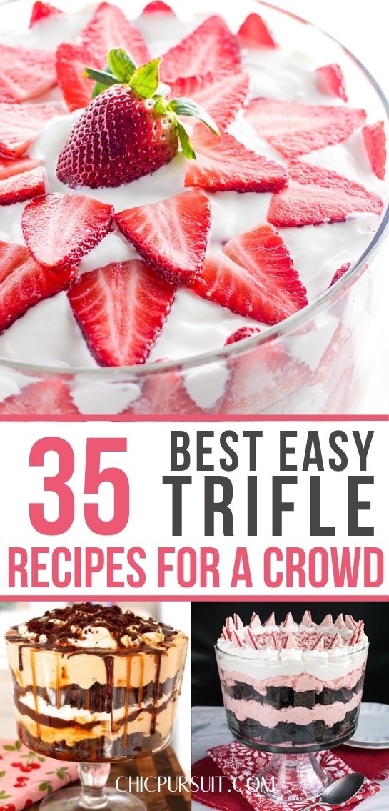 35 Easy Trifle Desserts That You & Your Family Will Love