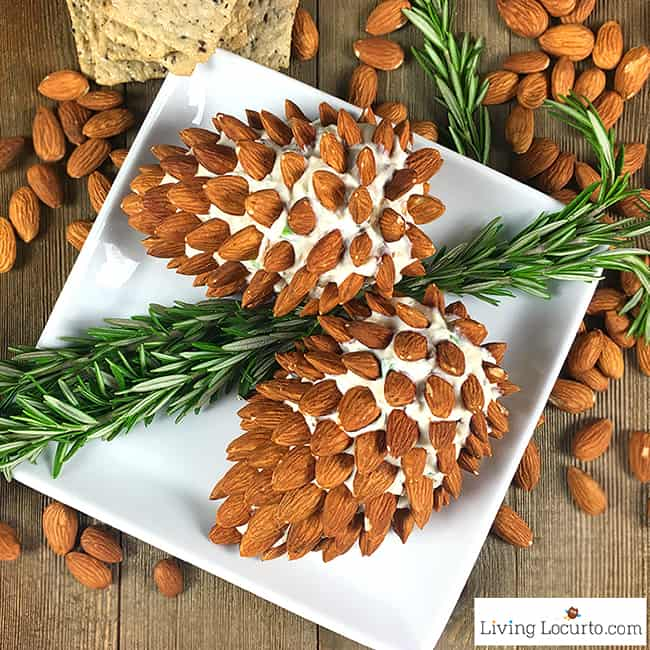 Pine Cone Cheese Ball with Almonds