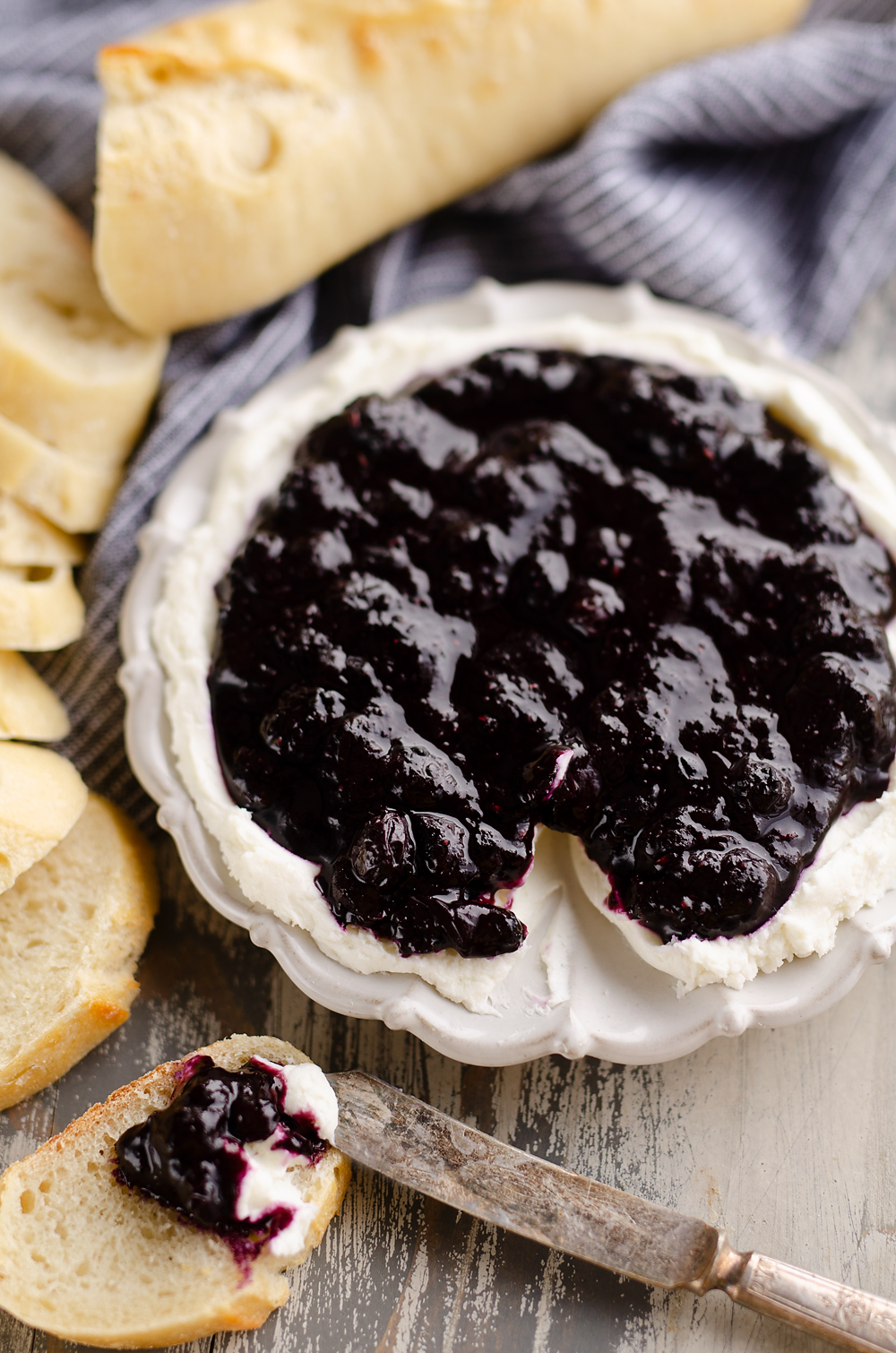 Blueberry Balsamic Goat's Cheese Appetizer