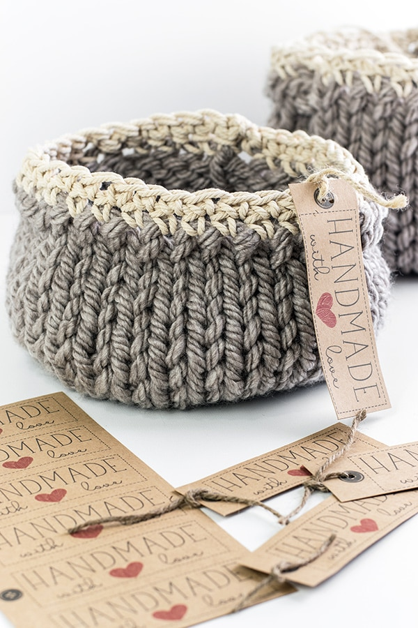Unique crafts to make and sell: DIY knit basket