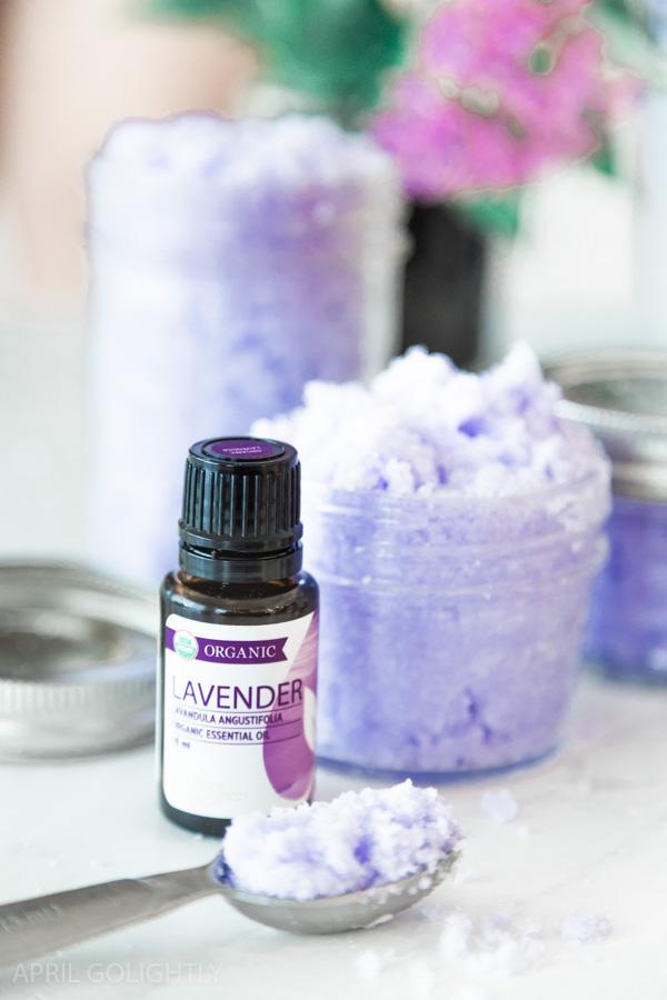 Effortless Lavender Sugar Scrub