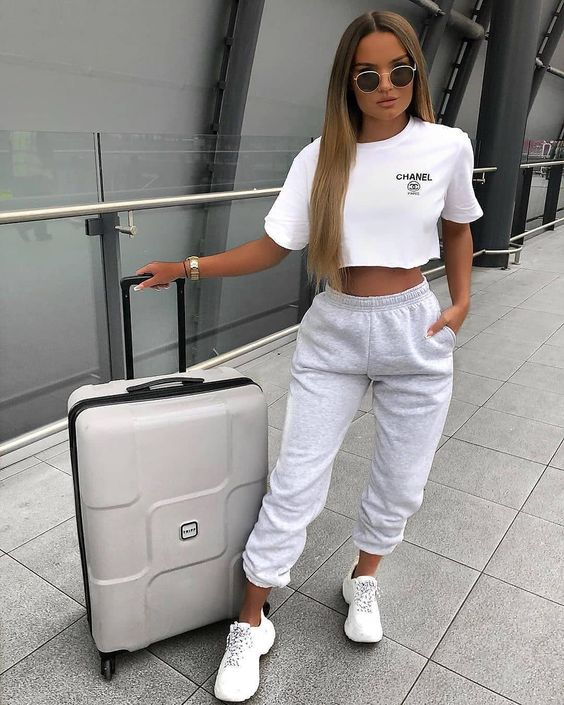 White airport outfits