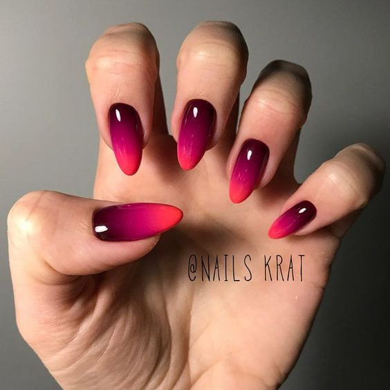 Red Ombre Nail Designs Gel