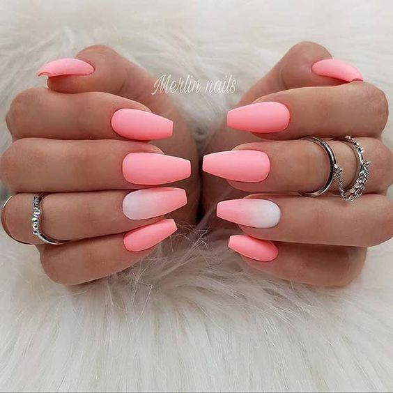 Cute pink summer nails