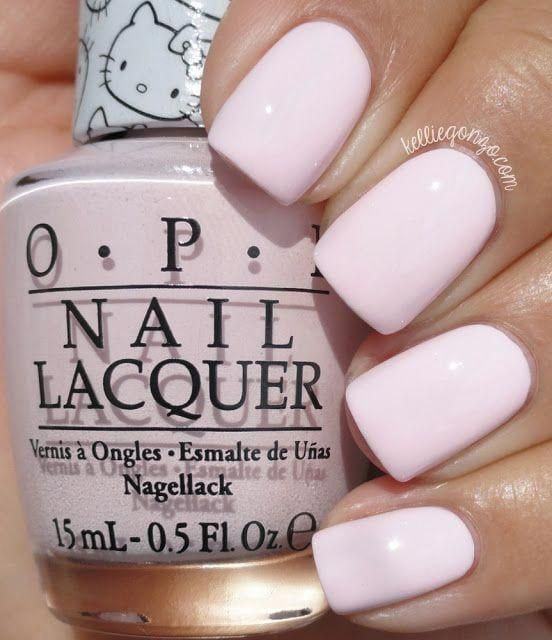 Light pink nails - cute pastel pink summer nail designs