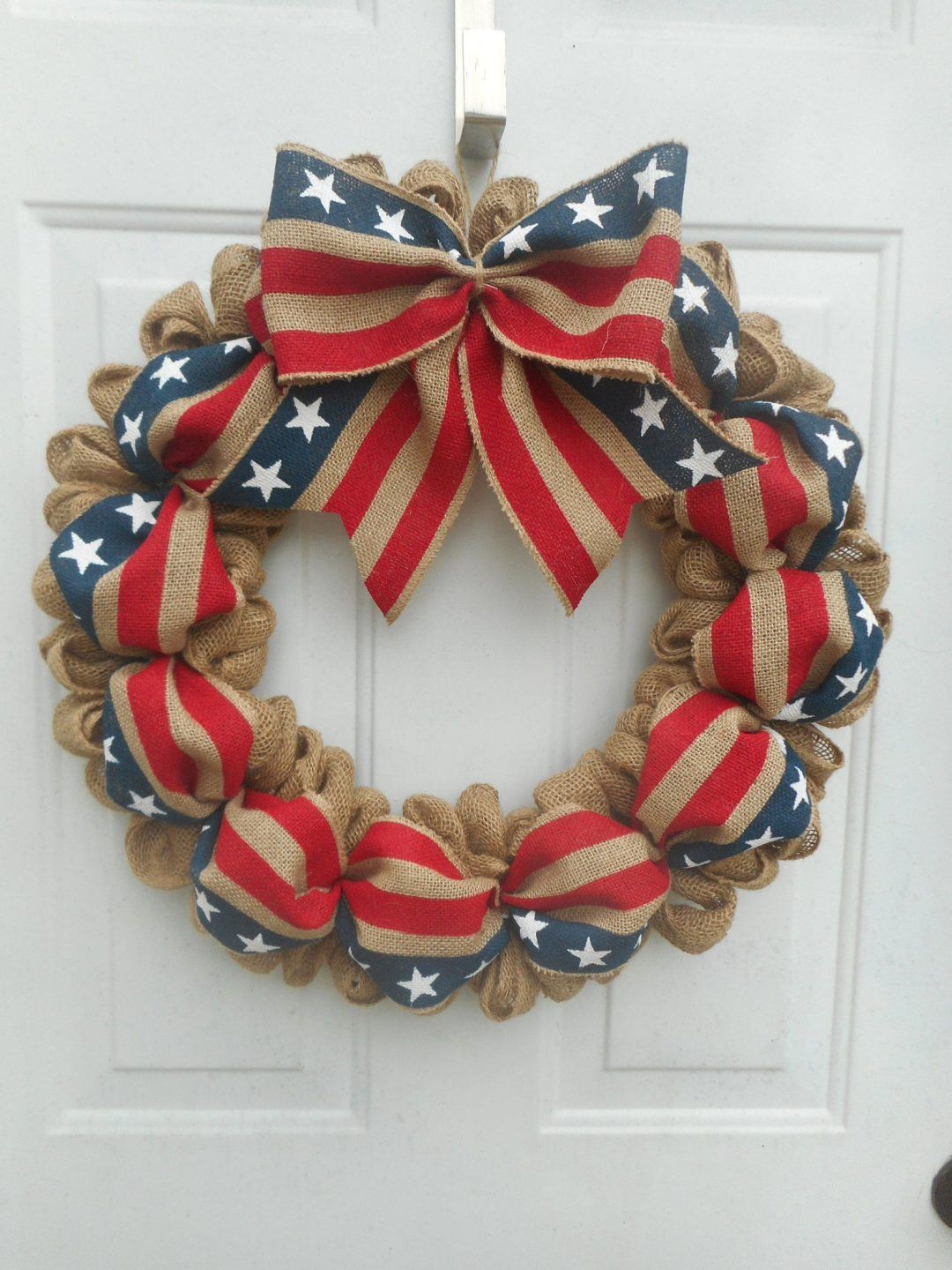 The best burlap 4th of July wreaths and burlap patriotic wreaths