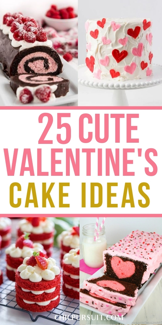 25 Amazingly Cute Valentine's Cake Ideas To Make Your Day Super Sweet
