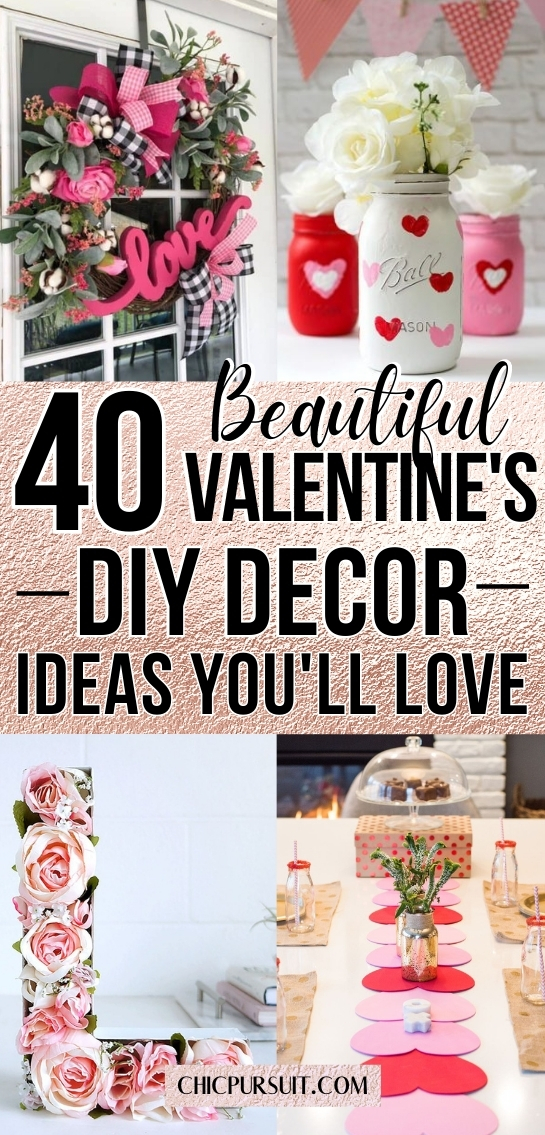 The best DIY Valentine's Day decor ideas and Valentine's decorations