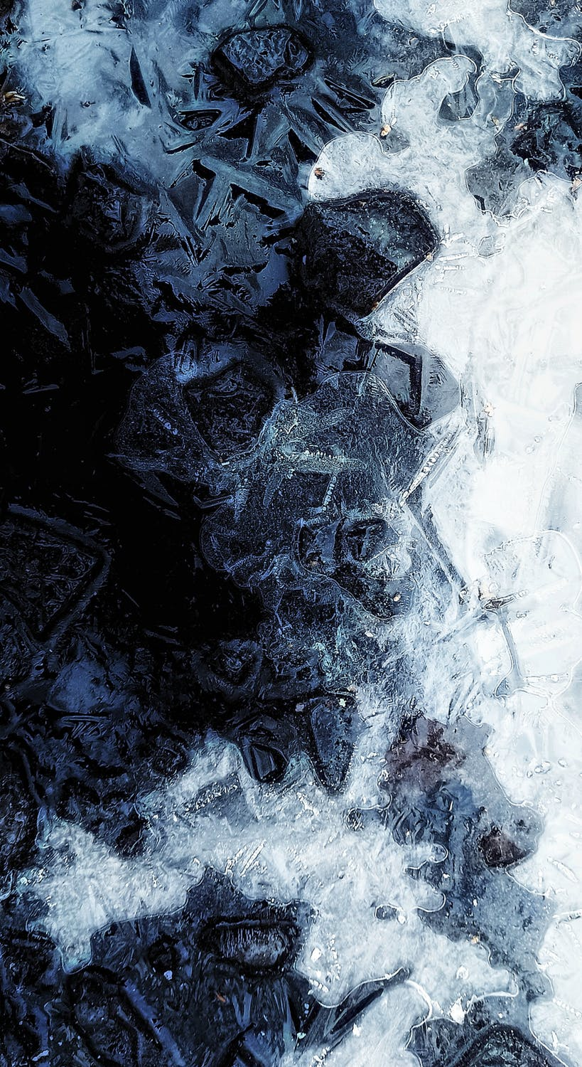 Icy water iphone wallpaper, cracked ice wallpaper