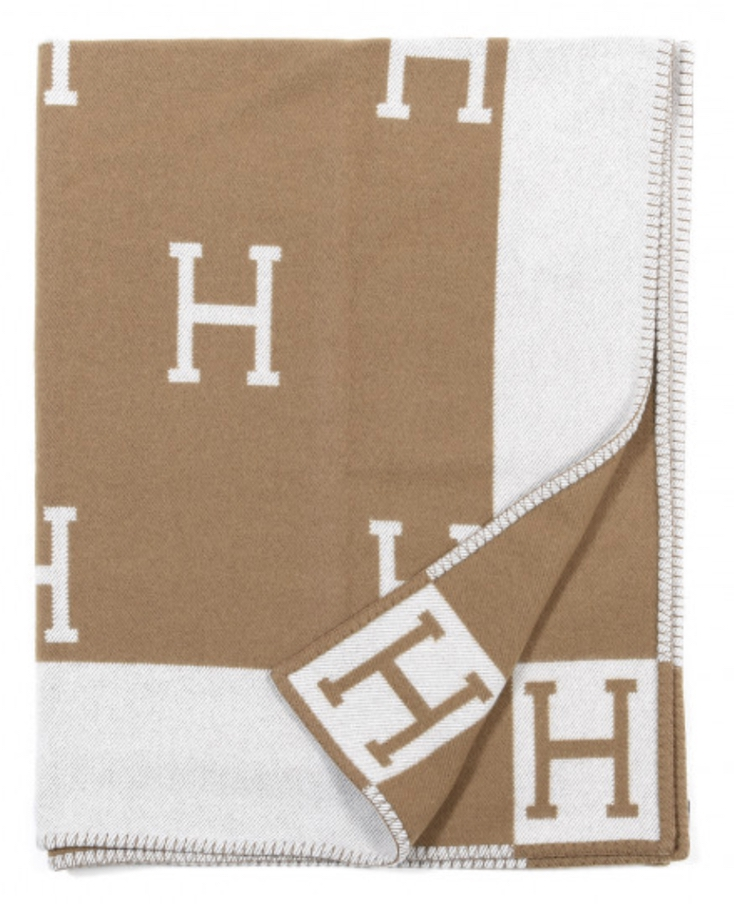 Luxury gifts for the woman who has everything: Hermes cashmere blanket