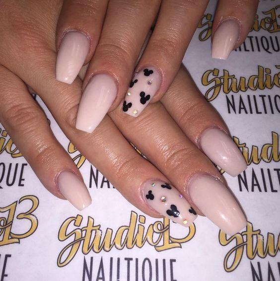 Pink Disney nails