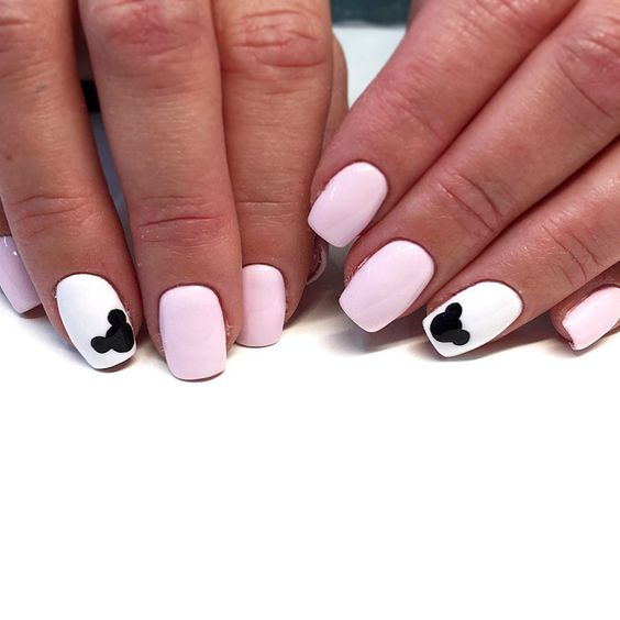 Short and cute Disney nails